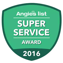 Bert Henry receives Angie's List Super Service Award for 2016