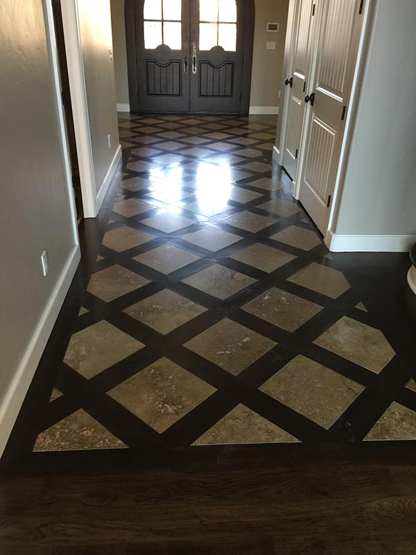 High quality Travertine installation by Bert Henry Carpet & Tile in Tulsa